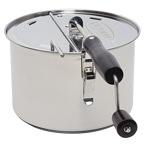 StovePop Stainless Steel Popcorn Popper By VICTORIO