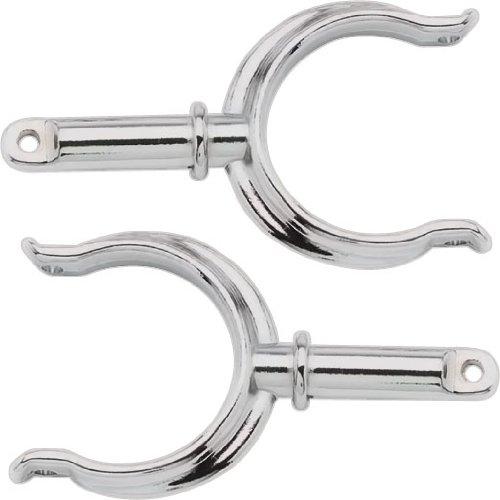 SeaSense Oarloack Horns, Chrome-Plated Zamak