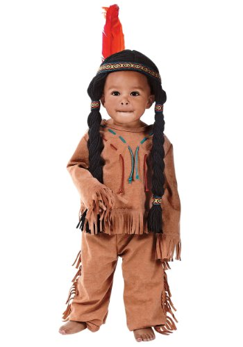 CHILD or TODDLER Indian Boy Costume with Headpiece/Attached Wig - Yarn Baby Costume
