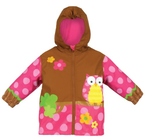 Stephen Joseph Girls 2-6x Girl's Rain Coat, Owl, 2T