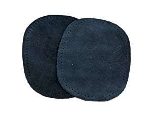Prym Sew-On Suede Real Leather Elbow/Knee Patches Navy Blue (2pk) from Prym