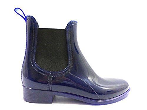 Scarpe donna JEFFREY CAMPBELL 39 stivaletti blu gomma KY479