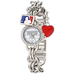 Game Time Ladies MLB-CHM-PIT Charm MLB Series Pittsburgh Pirates 3-Hand Analog Watch by Game Time