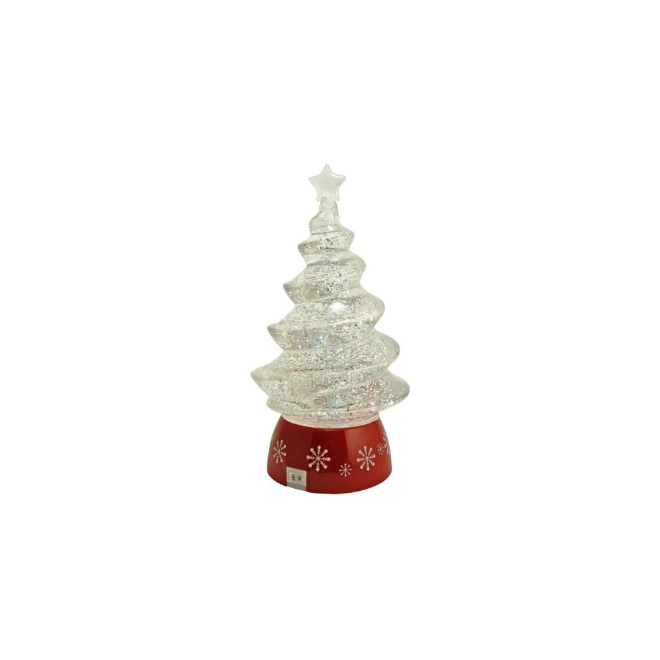 Magical Sparkling Swirling Christmas Tree Snow Globe