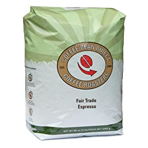 Coffee Bean Direct Espresso Whole Bean Coffee, 5 Pound by Coffee Bean Direct