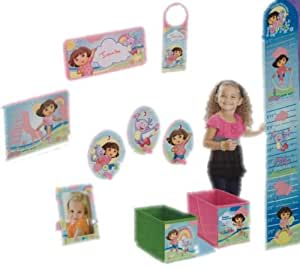 Dora the explorer 10 piece decor in a box features boots for Decor 6 piece lunchbox