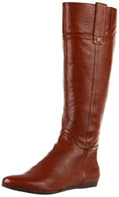 Nine West Women's Watermelon Knee-High Boot,Cognac Leather,6.5 M US