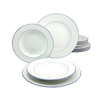 Creatable 14761série Blue Sky, Service de Table, Porcelaine, multicolore, 30x 21x 30,5cm, 12unités