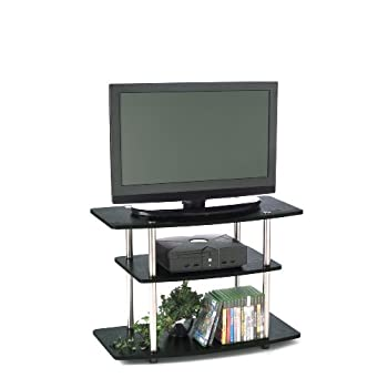 Set A Shopping Price Drop Alert For Convenience Concepts 131020 3-Tier TV Stand for Flat Panel TV's up to 32-Inch or 80-Pound, Black