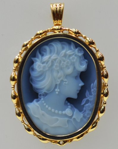 14kt Yellow Gold Cameo Pendant & Pin