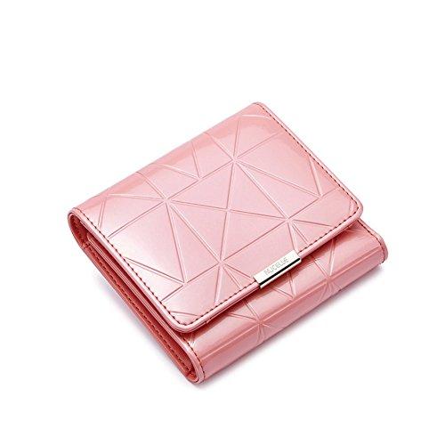portafoglio-donna-vernice-perlescente-rombico-clutch-bag-breve-portafoglio-bi-goffrato-b