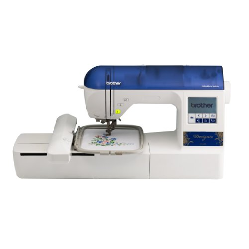 Brother Designio Series DZ820E Embroidery Machine with bonus embroidery hoops (4x4 inch and 2.5x1 inch), a starter kit and a CD with 200 bonus embroidery designs - more than a $200 value
