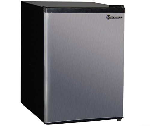 Stainless Steel And Black Refrigerator