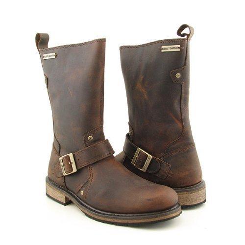 Davidson Jayden Engineer Motorcycle Boots Mens (12, Brown) Shoes