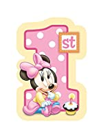 Baby Minnie Mouse 1st Birthday Invitations 8 Pkg Disney Invites Party from Amscan