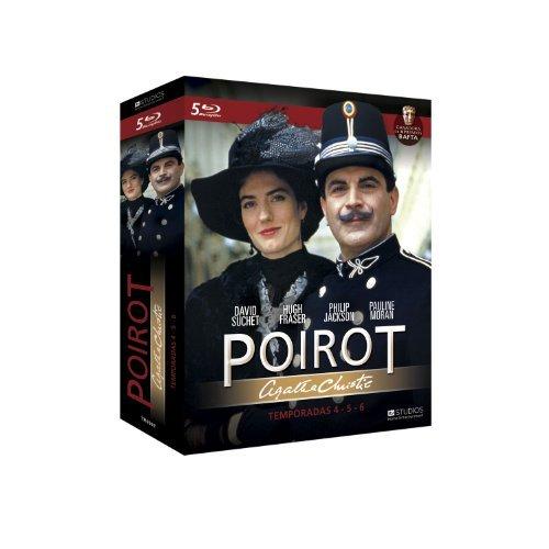 Agatha Christie's - Poirot (Season 4-6) - 5-Disc Box Set ( Agatha Christie: Poirot The ABC Murders / Death in the Clouds / One, Two, Buckle My Shoe / The Adventur [ Blu-Ray, Reg.A/B/C Import - Spain ]