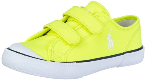 Polo Ralph Lauren Unisex - Child Chaz Ez Trainers Yellow Gelb (Neon Yellow) Size: 26