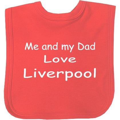 Me And My Dad Love Liverpool Velcro Baby Bib In 9 Colours - 100% Cotton