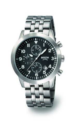 Boccia Men's Chronograph Titanium Bracelet Watch B3772-02