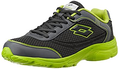 Lotto Men's Tremor Grey and Lime Green Running Shoes - 10 UK/India (44 EU)