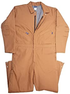 LAPCO CIFRBRDK-LAR RG 12-Ounce Duck Flame Resistant Insulated Coverall, Brown by LAPCO