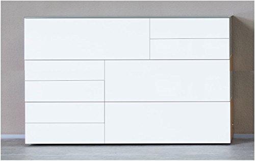 KITOON-SideboardHighboard-B-190-H-114-T-48-cm-Gleiter-Buche-gelt-Echtholzfurnier