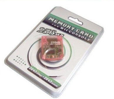 256MB Memory Card compatible for Wii & Gamecube - SHIP INTERNATIONAL