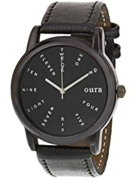 Oura Analog Round Black Dial Casual Wear Watch For Men