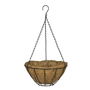CobraCo Black 14-Inch Growers Hanging Basket HGB14-B