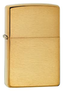 Zippo Pocket Lighter Armor Brushed Brass Lighter