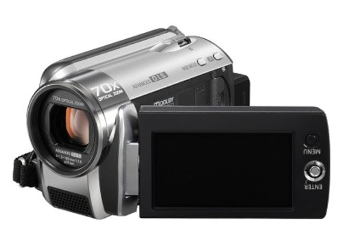 Panasonic SDR-H80 Camcorder With 60GB Hard Disc Drive & SD Card Compatibility - Silver