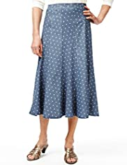 Classic Collection Panelled & Spotted Denim Skirt