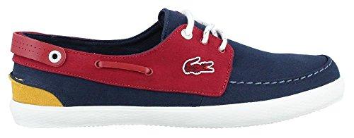 Lacoste Men's Sumac 216 1 Fashion Sneaker, Navy/Red, 12 M US