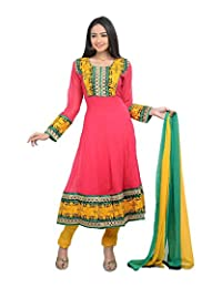 Sareeshut Women's Cotton Regular Fit Anarkali Suits - B00WQZ4G8E