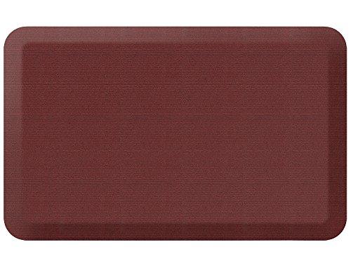 NewLife by GelPro Designer Comfort Mat, 20 by 32-Inch, Grasscloth Crimson