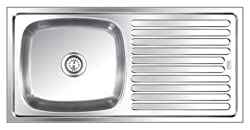 Lucky Stainless Steel Kitchen Sink ( 37 x 18 x 7 )