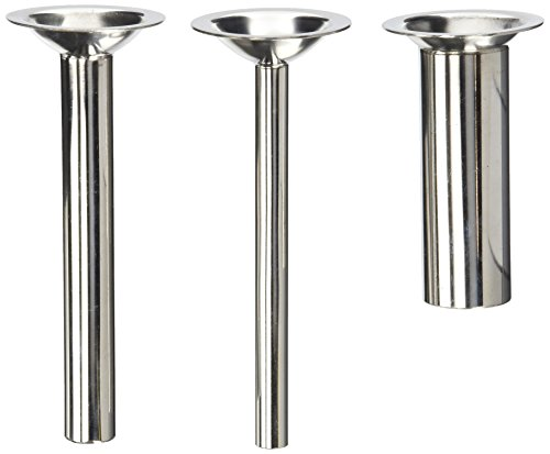 "THREE PACK 6"" long Sausage Stuffing Stuffer Tubes for Kitchenaid Mixer Meat grinder attachment. Fits FGA plastic model and the vintage metal ones. STAINLESS STEEL"