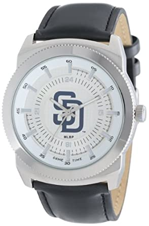 Game Time Mens MLB-VIN-SD Vintage MLB Series San Diego Padres 3-Hand Analog Watch by Game Time