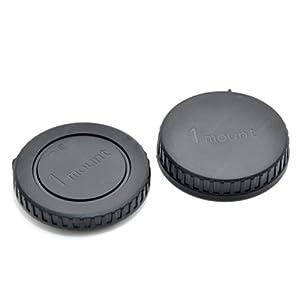 Gehäusedeckel + Objektiv Rückdeckel body + rear cap für Nikon 1 J1 V1, Nikkor 10mm f/2.8 Pancake, 10-30 mm, 30-110 mm, 10-100mm