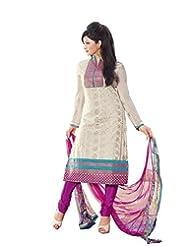 DivyaEmporio Women's Salwar Suit Dupatta Unstitched Dress Material (Free Size) - B00S7QAEGY