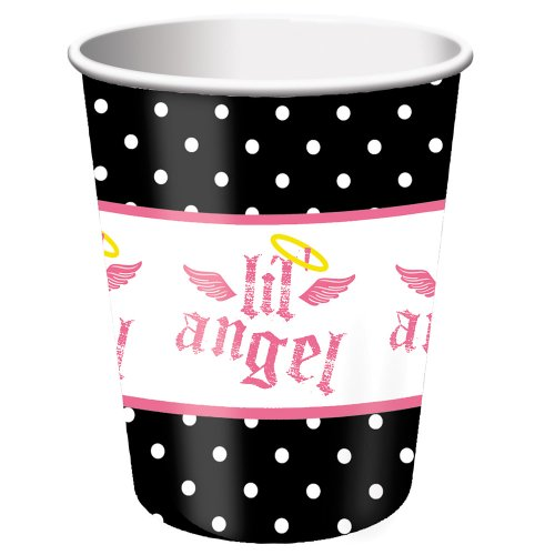 Creative Converting Angel Birthday Paper Party Cups, 8 Count