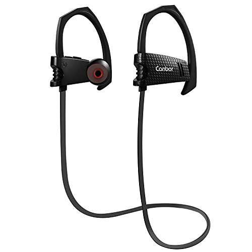 Bluetooth Headphones, Canbor Bluetooth 4.1 Wireless Earphones Sport Stereo Earbuds Neckband IPX5 Sweatproof Headset with Mic for Apple iPhone iPad Samsung and Android Phones