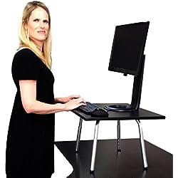 L'Originale Stand Steady - Cambia immediatamente qualsiasi scrivania su una Scrivania Alzata! Vincitrice di Premi! (Nera)