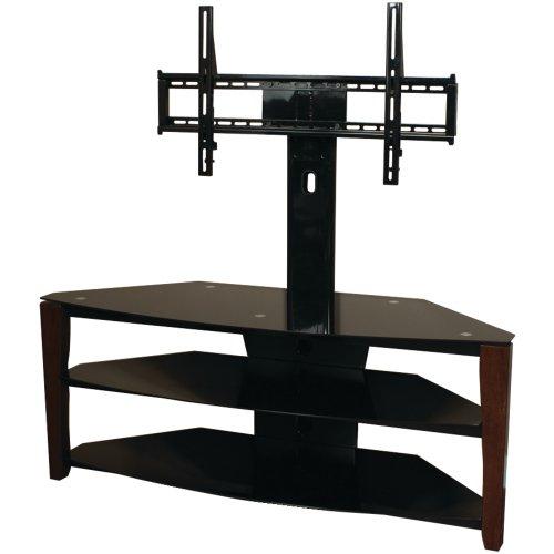 Cheap Techcraft FLEX52W 52-Inch Wide TV Stand with Mount Wood Legs Glass Top (Walnut/Black) (FLEX52W)