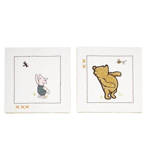 Cheapest Disney My Friend Pooh Wall Art, Sage/Ivory reviews