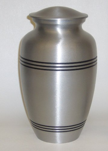 Urnsdirect2u Black Lined Pet Urn, 6 Inches