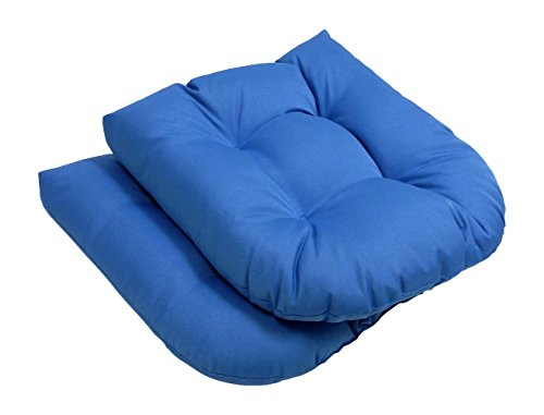 High Quality - Indoor/Outdoor - Solid Seat Cushions, Set Of 2-Light Blue - Exclusively By Blowout Bedding front-744095