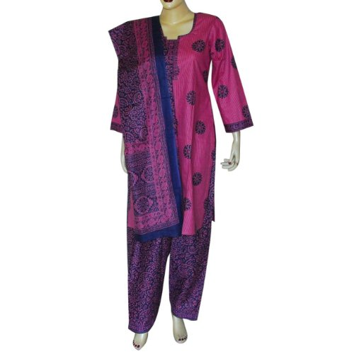Womens Clothing Spring Salwaar Kurta Cotton Printed Embroidered Dress Size S (slk462)