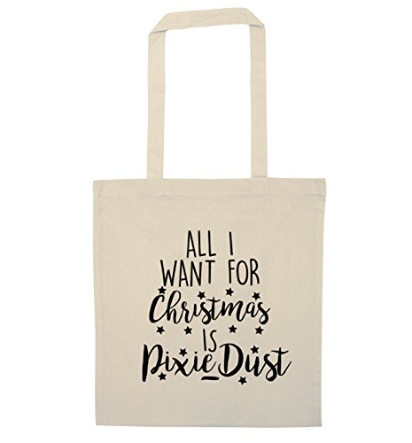 all-i-want-for-christmas-pixie-dust-borsa-natural-taglia-unica