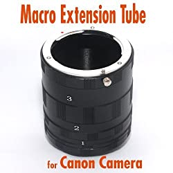 Macro Extension Tube Kit Compatible with Canon Cameras